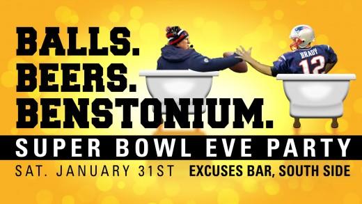 Balls. Beers. Benstonium.