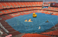 Cleveland Browns Stadium Flooded