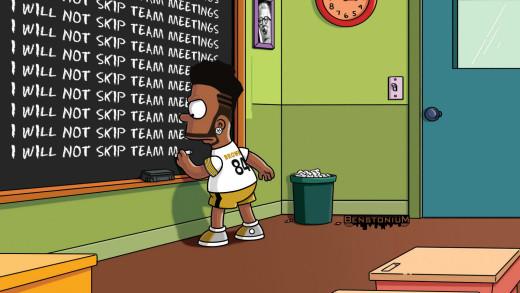 """Antonio Brown – """"Simpsons"""" Chalkboard"""