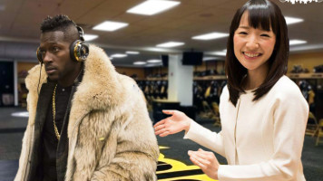 Antonio Brown with Marie Kondo