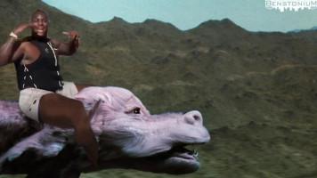Le'Veon Riding Falcor