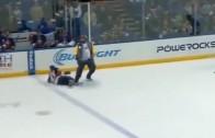 Coach Tomlin Trips NY Islanders Andy MacDonald