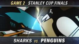 Pens vs. Sharks, Game 2