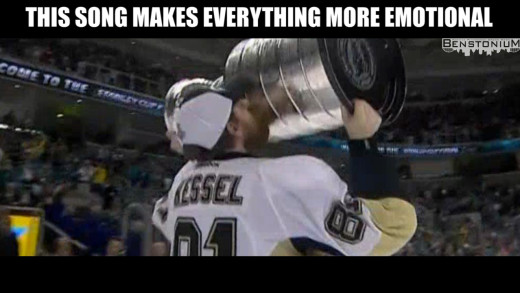 """Celine a Scene"" – Phil Kessel Hoists The Cup"