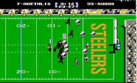 Antonio Brown's TD vs. Ravens — Tecmo Bowl Version