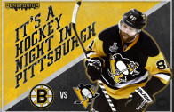 Pens vs. Bruins – Gameday Poster