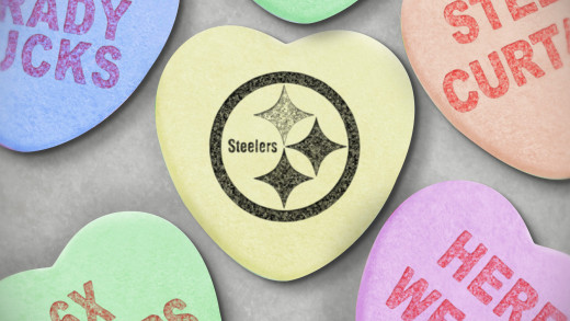 Steelers Candy Hearts