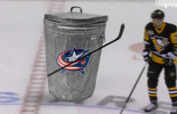 Trash Can Breaks Its Stick on Kuhnhackl