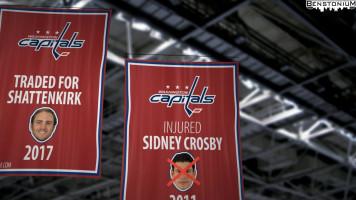 Capitals' Sidney Crosby Banner
