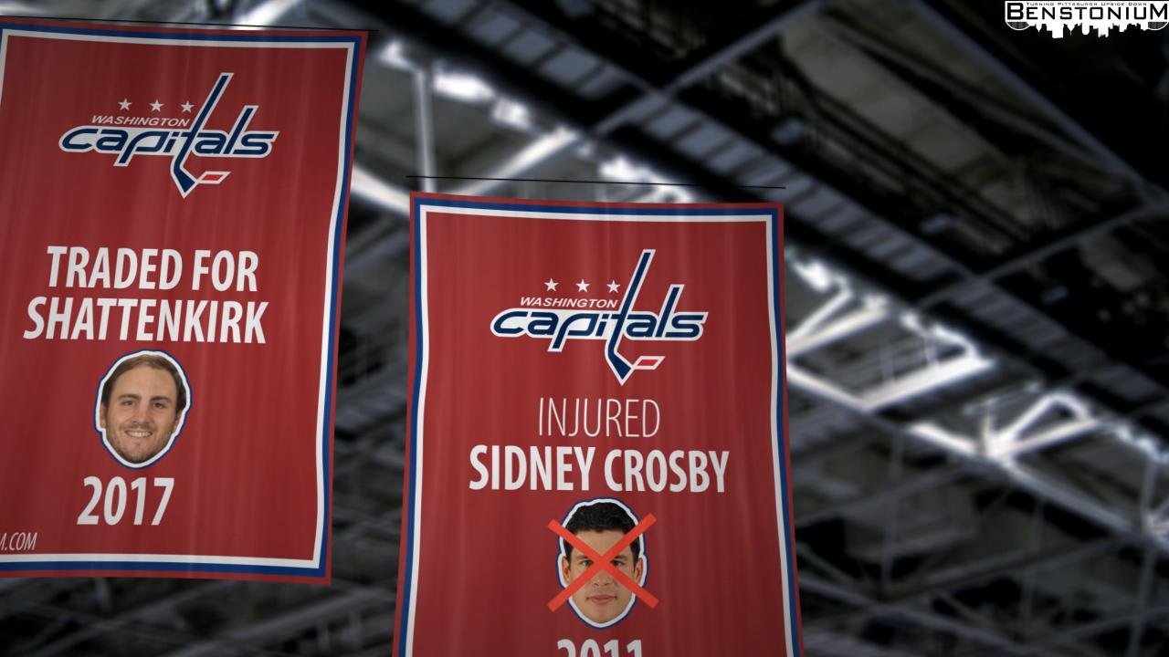 Capitals  Sidney Crosby Banner  cf33ec491d5