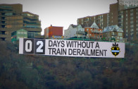 Days Without Train Derailment Sign
