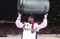 Tom Wilson Hoists Trash Can