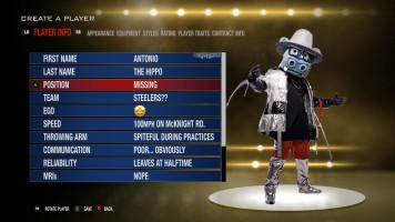 Madden Create-a-Player   A.B. Hippo