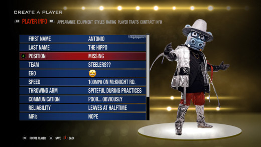 Madden Create-a-Player | A.B. Hippo