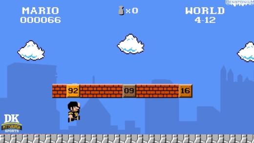 Super Mario Bros. — Mario Lemieux / Penguins Version