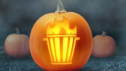 Dumpster Fire Pumpkin