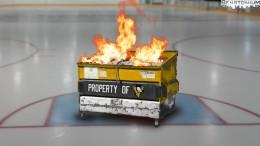 Penguins Dumpster Fire