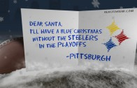 "Steelers ""Blue Christmas"" Card"