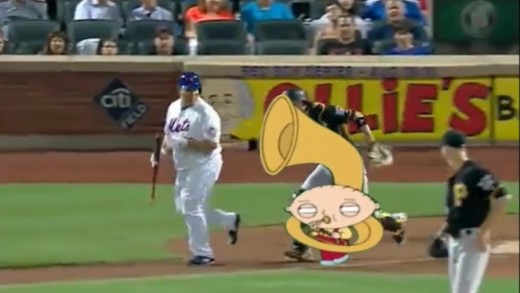Stewie Griffin Follows Bartolo Colon with Tuba