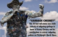Garbage Chesney Statue