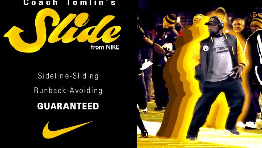 "Coach Tomlin / ""The Slide"" Shoe Ad"