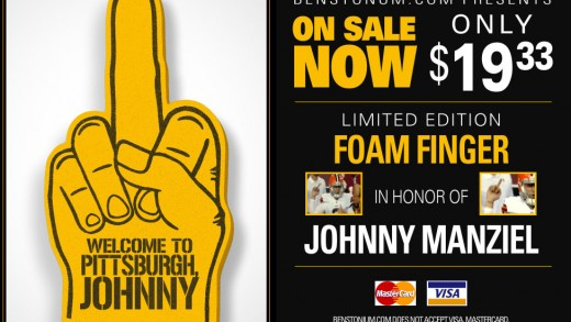 Johnny Manziel Foam Finger Ad