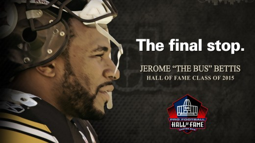 The Final Stop – Jerome Bettis HOF Poster