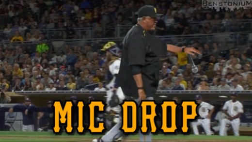 GIF: Clint Hurdle. Mic Drop.