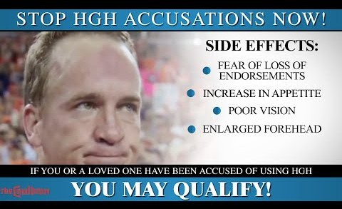 Peyton Manning HGH PR Commercial