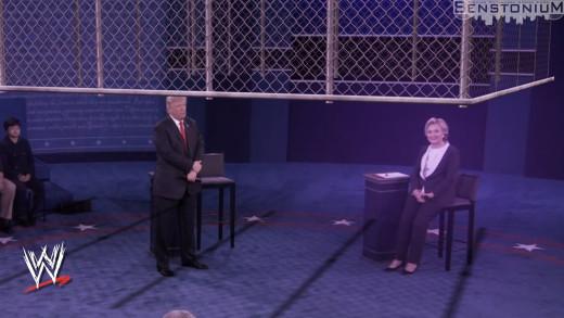 Presidential Debate / WWE Steel Cage Mashup