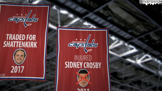 Capitals' Sidney Crosby Banner