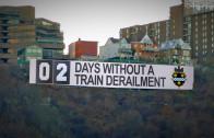 Days Without Train Derailment Sign