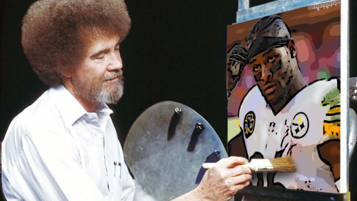 Bob Ross Painting Le'Veon