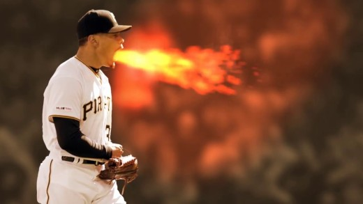 Pirates' Pitcher Keone Kela Breathing Fire