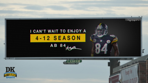 Antonio Brown's Pittsburgh Billboards